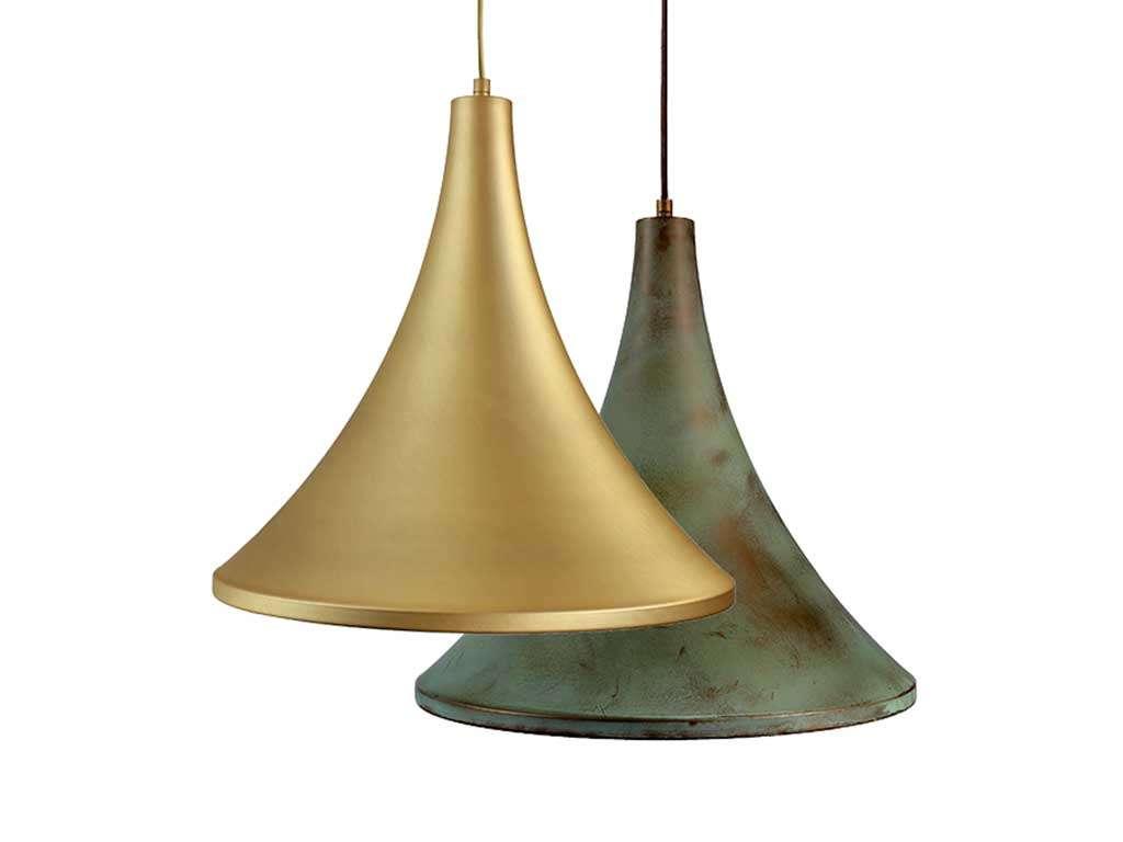 lampada in ottone