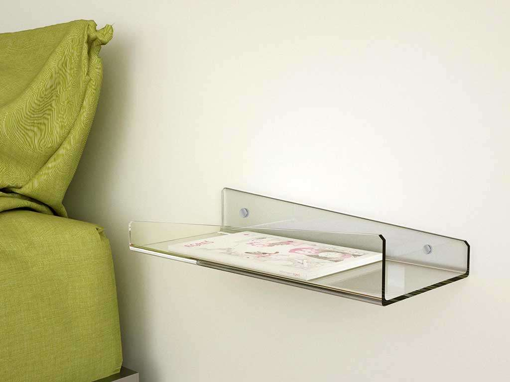 mensola plexiglass da parete