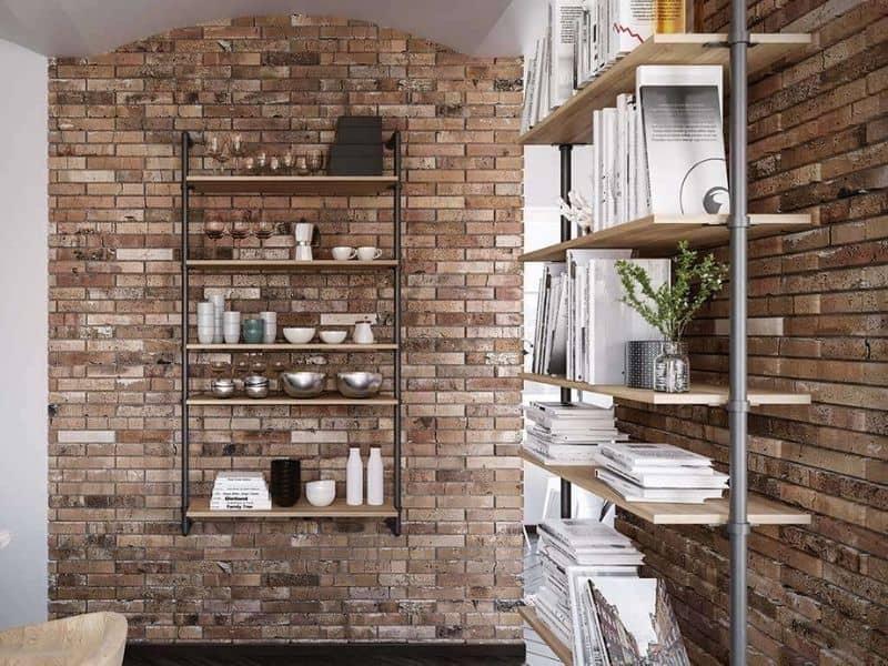 Libreria design a parete Pipe
