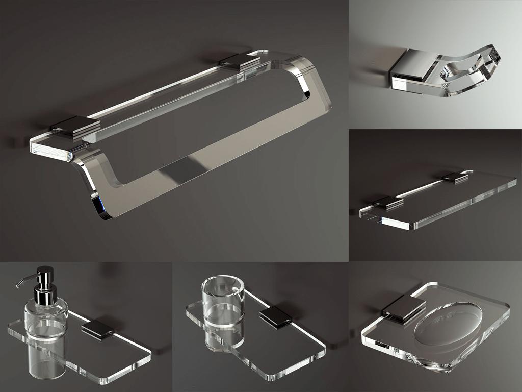 accessori bagno in plexiglass
