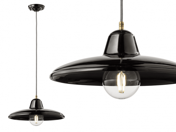 lampada vintage nera