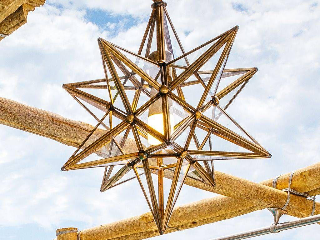 lampada a sospensione stella metallo