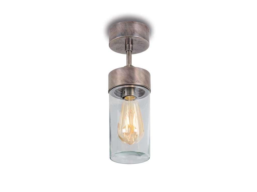 lampada da soffitto in ottone da esterno
