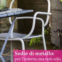 sedia da giardino in metallo