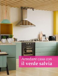 cucina moderna verde salvia